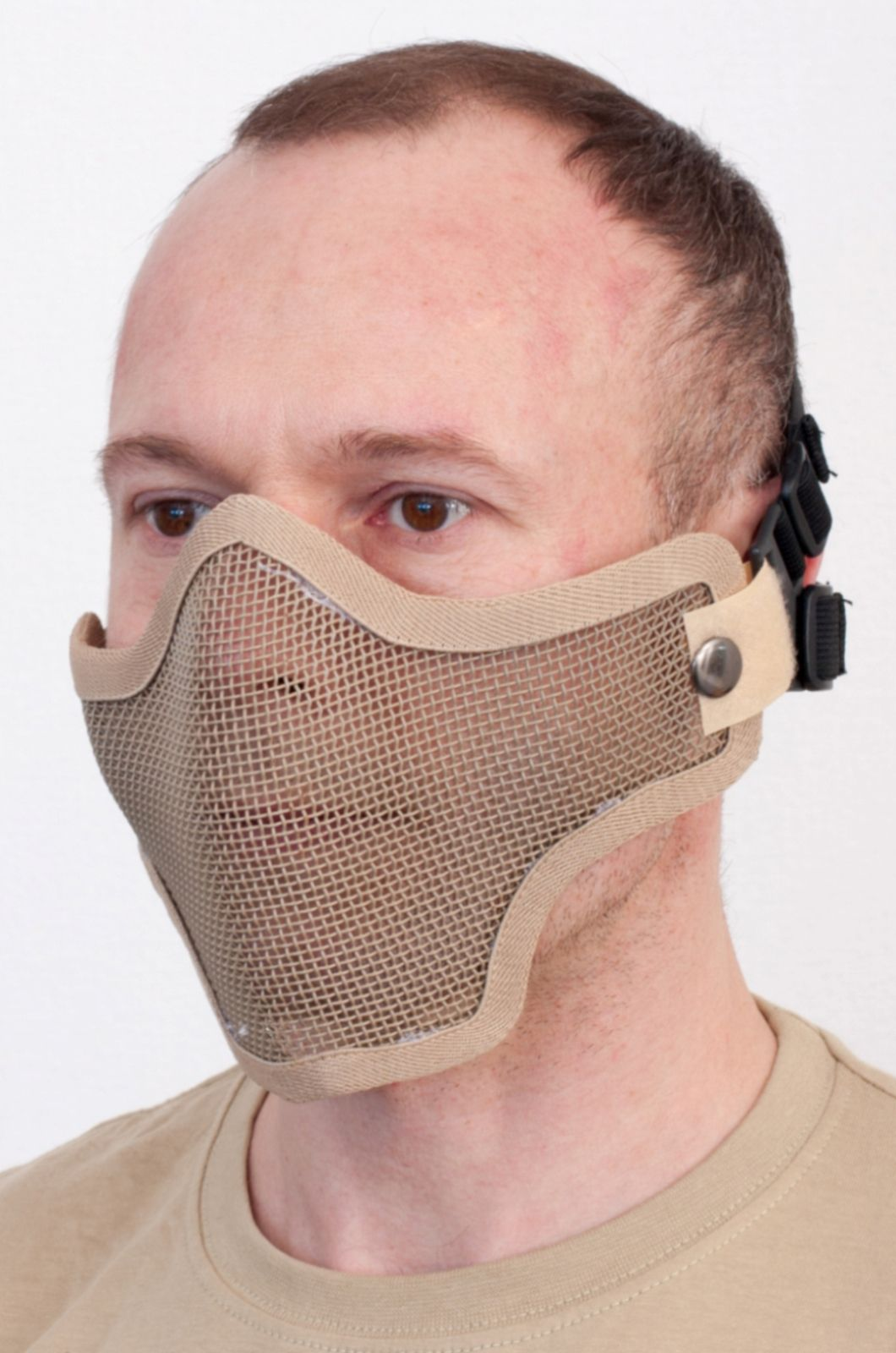 """Страйбольная маска-сетка """"Сталкер"""" из прочной карбоновой стали"""