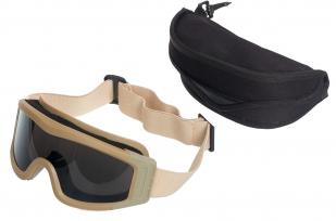Защитные очки для страйкбола в чехле