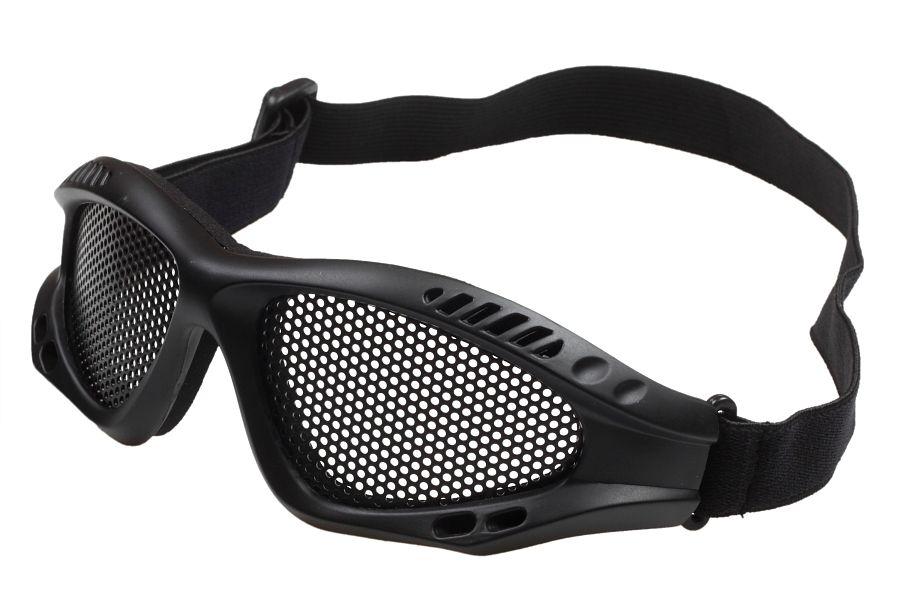 Защитные очки Goggle чёрные (сетка)