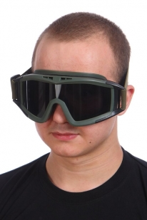 Защитные очки Гром тёмное стекло