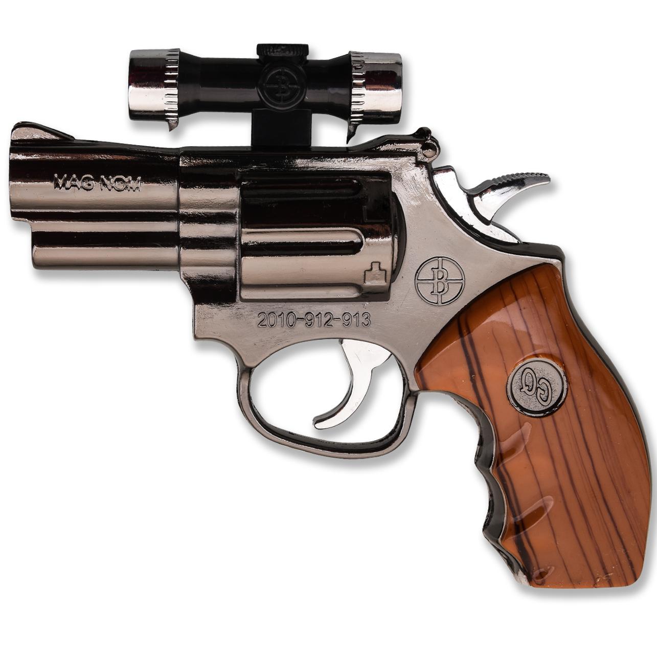 Зажигалка револьвер MAG NOM с лазером