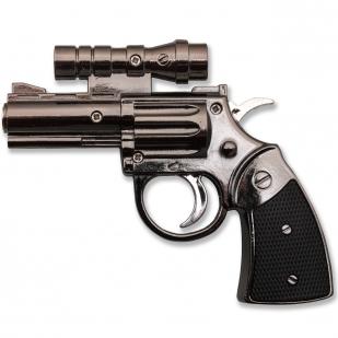 Зажигалка в виде револьвера с лазером