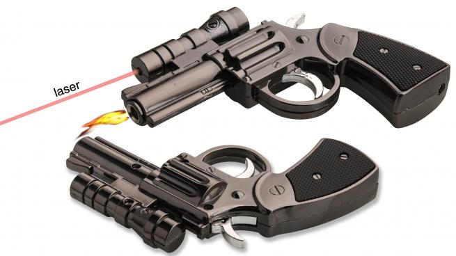 Зажигалка в виде револьвера