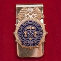 """Зажим для денег или ремня """"Инспектор полиции Нью-Йорка"""""""