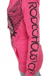Женское худи с капюшоном. Утеплённая модель от ТМ Rock and Roll Cowgirl. Некапризный материал, прикольные потёртости и свежий дизайн