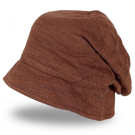 Женская шляпка кофейного цвета