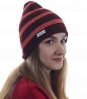 Женская шапка Neff в очаровательную полоску. Удобная и практичная, хит сезона!