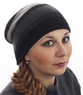 Женская шапочка Neff с люрексом. Модная полоска, удлиненный дизайн. Красотки, эта модель для вас!