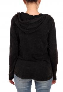 Успей купить! Женский ЭТНО батник от ТМ Panhandle. Уютный капюшон, насыщенный цвет, стилизованная вышивка