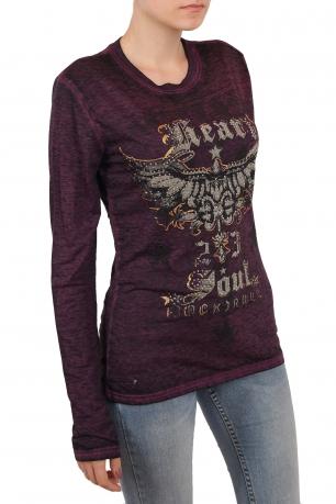 Женский Grunge реглан от ГУРУ молодежной моды – бренда Rock and Roll Cowgirl. Холодный цвет идеально сочетается с тематическим граффити-принтом