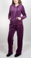 Женский спортивный костюм SHE. Модная двойка цвета спелой сливы. Недорогая модель с капюшоном, сочетающая качество, комфорт и стиль