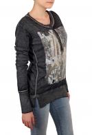 Модный женский свитшот с принтом. Ограниченная серия от ТМ Rock and Roll Cowgirl. Хулиганские наружные швы и боковые разрезы