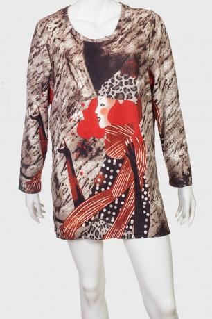 Женское оригинальное платье-туника от бренда Claire France