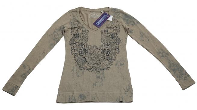 Женственная очень нежная кофточка Panhandle Slim с ажурным принтом