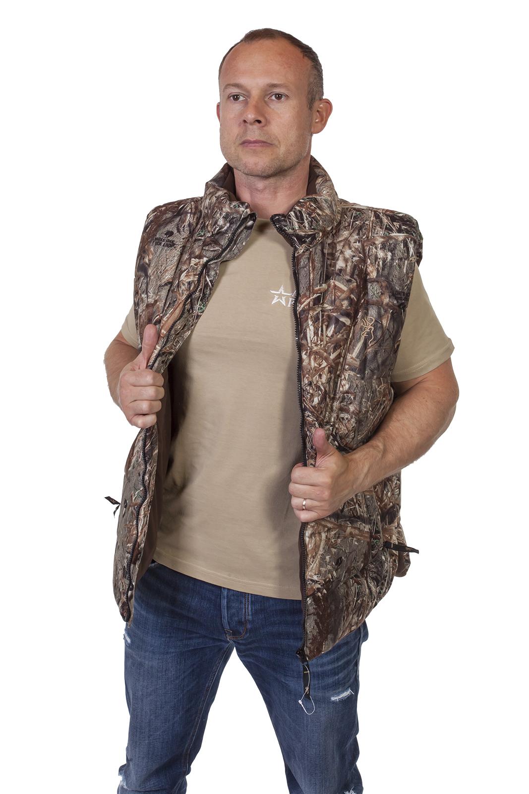 Мужская охотничья жилетка с высоким воротником