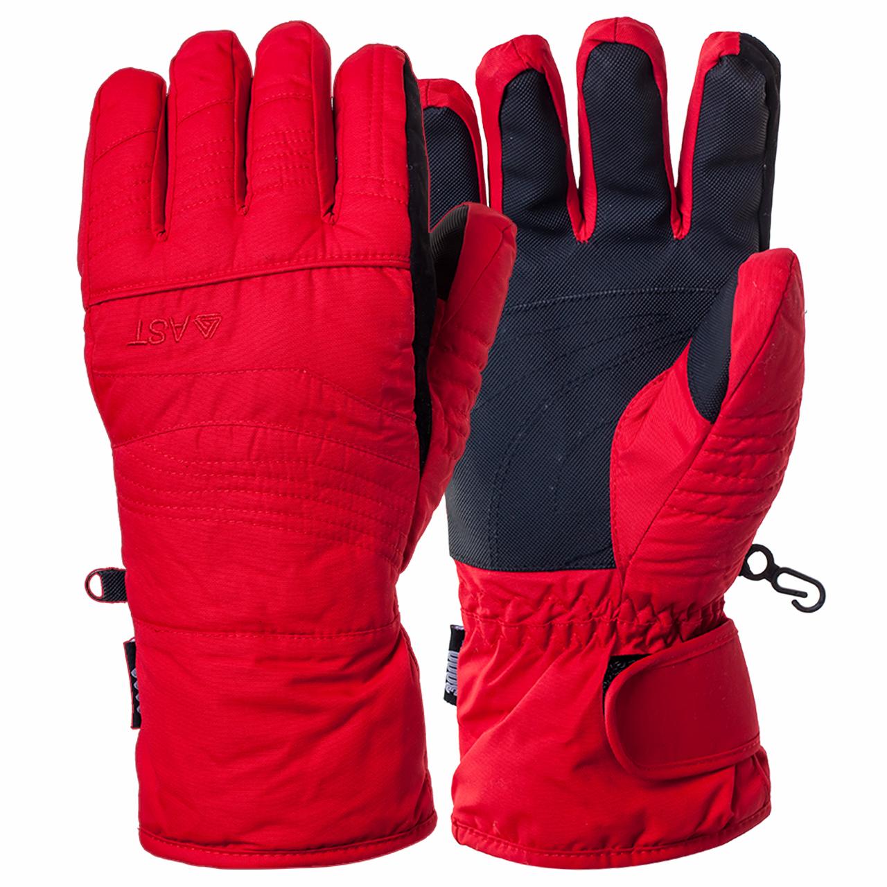 Зимние спортивные перчатки красного цвета от AST