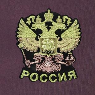 """Зимние теплые спортивные штаны """"Россия"""" с вышитой нашивкой."""