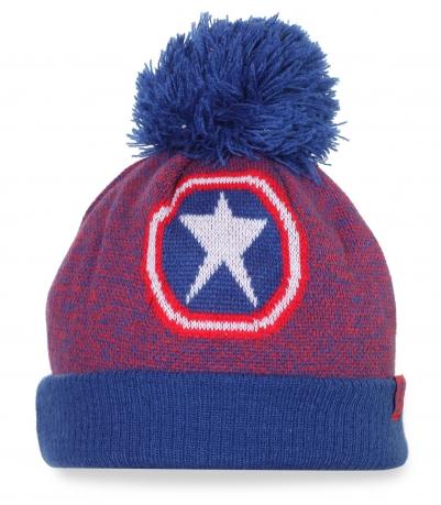 """Зимняя шапка с логотипом """"Капитан Америка"""""""