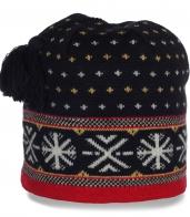 Зимняя теплая женская шапка утепленная флисом