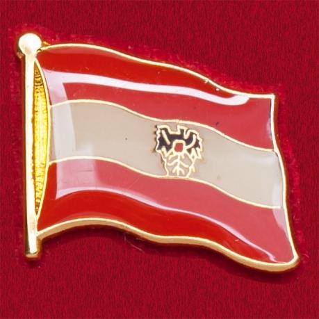 Значок австрийского флага с гербом