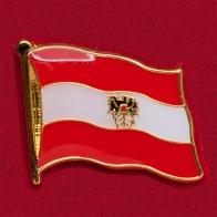 Значок Флаг Австрии с гербом
