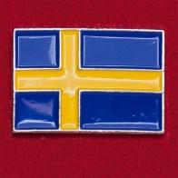 """Значок """"Флаг Швеции"""" (прямой)"""