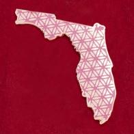 "Значок с мандалой исполнения желаний ""Флорида"""