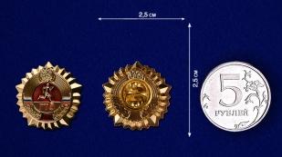 Золотой знак ГТО - сравнительный размер