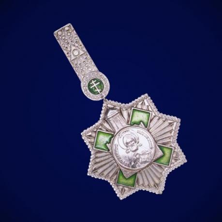 Звезда Ордена  Преподобного Сергия Радонежского 2 степени